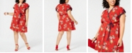 Love Squared Trendy Plus Size Flutter-Sleeve Fit & Flare Dress