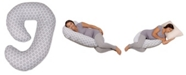 Leachco Snoogle Mini Chic Maternity/Pregnancy Compact Side Sleeper, Moroccan Gray