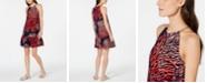 Michael Kors Printed Chain-Neck Halter Dress, Regular & Petite
