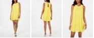 MSK Petite Rhinestone-Trim A-Line Dress