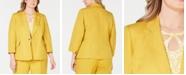 Kasper Plus Size Toggle-Closure Jacket