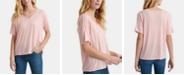 Lucky Brand Seamed Burnout T-Shirt