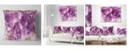 "Design Art Designart 'Purple Amethyst Macro' Abstract Throw Pillow - 16"" x 16"""