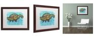 "Trademark Global Dean Russo 'Turtle' Matted Framed Art - 20"" x 16"" x 0.5"""