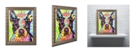 "Trademark Global Dean Russo 'Boston Terrier Crowned' Ornate Framed Art - 20"" x 16"" x 0.5"""