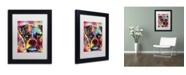 "Trademark Global Dean Russo 'Boxer Cubism' Matted Framed Art - 11"" x 14"" x 0.5"""