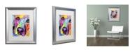 """Trademark Global Dean Russo 'Closeup Labrador' Matted Framed Art - 20"""" x 16"""" x 0.5"""""""
