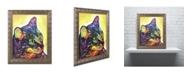 "Trademark Global Dean Russo 'Confident Cat' Ornate Framed Art - 20"" x 16"" x 0.5"""