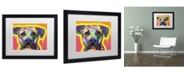 """Trademark Global Dean Russo 'Drip Love' Matted Framed Art - 16"""" x 20"""" x 0.5"""""""