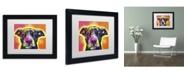 """Trademark Global Dean Russo 'Love A Bull' Matted Framed Art - 11"""" x 14"""" x 0.5"""""""