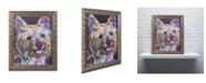 "Trademark Global Dean Russo 'Yorkie II' Ornate Framed Art - 20"" x 16"" x 0.5"""