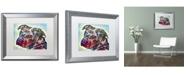 """Trademark Global Dean Russo 'Bulls Eye' Matted Framed Art - 20"""" x 16"""" x 0.5"""""""