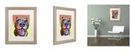 "Trademark Global Dean Russo 'Bark Don't Bite' Matted Framed Art - 20"" x 16"" x 0.5"""