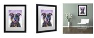 """Trademark Global Dean Russo 'Love Not a Fighter' Matted Framed Art - 16"""" x 20"""" x 0.5"""""""