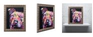 "Trademark Global Dean Russo 'Thoughtful Pit Bull' Ornate Framed Art - 20"" x 16"" x 0.5"""