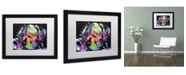 """Trademark Global Dean Russo 'Young Mastiff' Matted Framed Art - 16"""" x 20"""" x 0.5"""""""