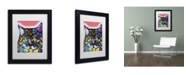"Trademark Global Dean Russo 'Maine Coon' Matted Framed Art - 11"" x 14"" x 0.5"""