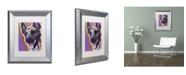 """Trademark Global Dean Russo 'Malinois' Matted Framed Art - 14"""" x 11"""" x 0.5"""""""