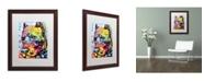"""Trademark Global Dean Russo 'Smokey' Matted Framed Art - 20"""" x 16"""" x 0.5"""""""