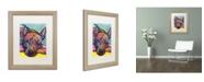 """Trademark Global Dean Russo 'Yoda' Matted Framed Art - 20"""" x 16"""" x 0.5"""""""