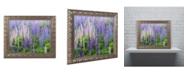 "Trademark Global Cora Niele 'Blue Pink Lupine Flower Field' Ornate Framed Art - 14"" x 11"" x 0.5"""