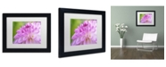 "Trademark Global Cora Niele 'Cerise Pink Dahlia' Matted Framed Art - 11"" x 14"" x 0.5"""