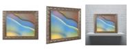 "Trademark Global Cora Niele 'Blue Flow' Ornate Framed Art - 14"" x 11"" x 0.5"""