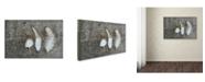 "Trademark Global Cora Niele 'Three Feathers on Wood' Canvas Art - 19"" x 12"" x 2"""
