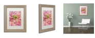 "Trademark Global Cora Niele 'Cerise Pink Poppy' Matted Framed Art - 14"" x 11"" x 0.5"""