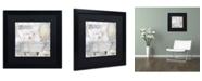 "Trademark Global Color Bakery 'Beach House I' Matted Framed Art - 16"" x 16"" x 0.5"""