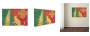 "Trademark Global Cora Niele 'Xmas Tree and Cat' Canvas Art - 24"" x 16"" x 2"""