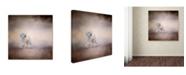 "Trademark Global Jai Johnson 'Bichon On The Go' Canvas Art - 35"" x 35"" x 2"""