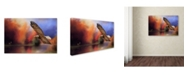 "Trademark Global Jai Johnson 'Fall Flight Bald Eagle' Canvas Art - 47"" x 30"" x 2"""