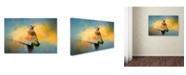 "Trademark Global Jai Johnson 'Bluebird Mealtime' Canvas Art - 24"" x 16"" x 2"""