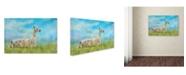 "Trademark Global Jai Johnson 'Just Chillin' Canvas Art - 19"" x 12"" x 2"""