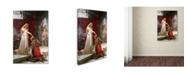 "Trademark Global Edmund Leighton 'The Accolade' Canvas Art - 24"" x 16"" x 2"""
