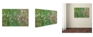 "Trademark Global Cora Niele 'Floral Flurry Green' Canvas Art - 47"" x 30"" x 2"""