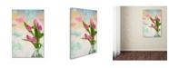 "Trademark Global Cora Niele 'Tulips And Aquarel' Canvas Art - 47"" x 30"" x 2"""