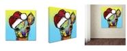 "Trademark Global Dean Russo 'Chihuahua Christmas' Canvas Art - 18"" x 18"" x 2"""