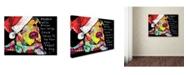 """Trademark Global Dean Russo 'Firu Christmas' Canvas Art - 24"""" x 18"""" x 2"""""""