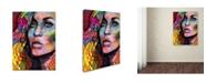 """Trademark Global Dean Russo 'Queen' Canvas Art - 19"""" x 14"""" x 2"""""""