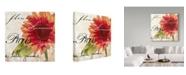 "Trademark Global Color Bakery 'Paris Songs II' Canvas Art - 18"" x 18"" x 2"""