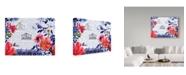 "Trademark Global Irina Trzaskos Studio 'Sophisticated Flowers I' Canvas Art - 19"" x 14"" x 2"""