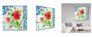 "Trademark Global Irina Trzaskos Studio 'Summertime Poppies II' Canvas Art - 18"" x 18"" x 2"""