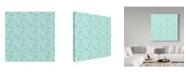 "Trademark Global Irina Trzaskos Studio 'Evening Garden Pattern II' Canvas Art - 14"" x 14"" x 2"""