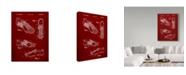 "Trademark Global Cole Borders 'Sports Cleat' Canvas Art - 19"" x 14"" x 2"""