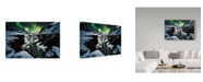 "Trademark Global David Martin Castan 'Full Moon In Gullfoss' Canvas Art - 32"" x 2"" x 22"""