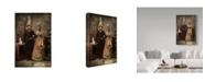 "Trademark Global Ddiarte 'Cat Couple' Canvas Art - 12"" x 2"" x 19"""