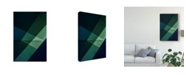 """Trademark Global Inge Schuster 'Green And Blue' Canvas Art - 12"""" x 2"""" x 19"""""""