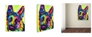 "Trademark Global Dean Russo 'German Shepherd' Canvas Art - 19"" x 14"" x 2"""